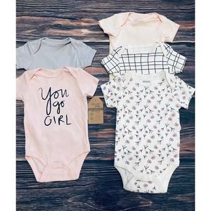 Chick Pea Baby Girl 5-Pack Bodysuits